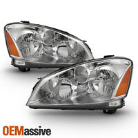 Fits 2005-2006 Altima Halogen Only Factory Style Chrome Headlights Replacement