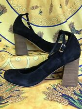 Free People X Jeffrey Campbell Delta Black Suede Heels Size 7