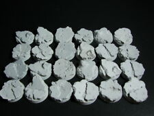 32 mm Concrete Rubble  Bases lot of 24 New Space Marine Size