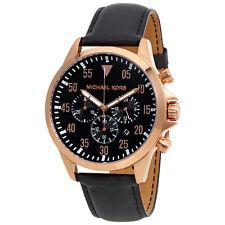 Michael Kors Gage Chronograph Black Dial Ladies Watch MK8535