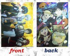 Black Butler / Fullmetal Alchemist big poster Japanese Anime Ciel Sebastian Rare