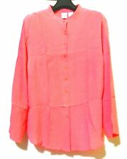 Emma James A LIZ CLAIRBORNE co.  Coral Pleated SILK Top
