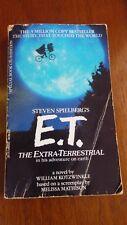 E.T. The Extra-Terrestrial Vintage Paperback Book Steven Spielberg