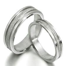 Personalized Groom & Bride Matching Couple Wedding Couple Titanium Rings Set