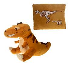 "Pillow 18"" Reversible Tyrannosaurus Rex Peek-A-Boo Plush Cuddle Travel Buddy 3+"