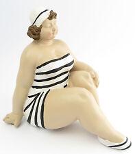 Statua decorativa donna ABBONDANTE Costume da bagno retrò art. figura femminile