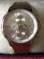 New Accurist Men Gold Plated round face chronograph Date designer watch MB933S