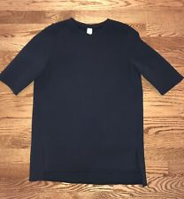 IVIVVA GIRLS SHORT SLEEVE SHIRT FRONT POCKET BLACK TOP SZ 12