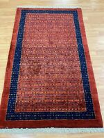 "2'9"" x 4'5"" New Indian Tribal Oriental Rug - Hand Made - 100% Wool"