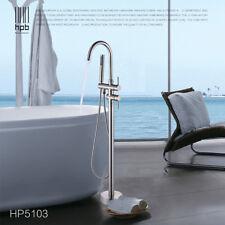 Artiqua Freestanding Tub Filler Bathtub Faucet Brushed Nickel Floor Mount Faucet