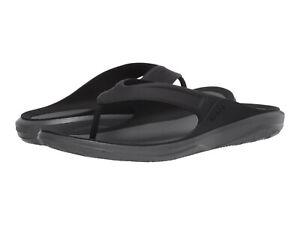 Men Crocs Swiftwater Wave Flip 206242-0DD Black Grey 100% Authentic Brand New