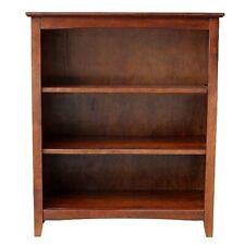"""Mission Craftsman Shaker 3 Shelf 36"""" Solid Hardwood Bookcase"""