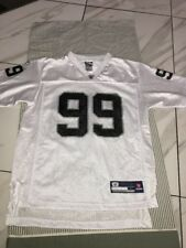 Warren Sapp Oakland Raiders NFL Football Jersey Reebok SZ YOUTH Large Pro White