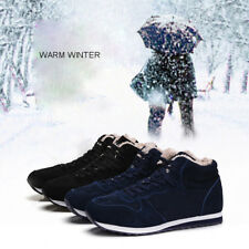Man Women Casual Boots Platform Lace Warm Winter Plus Size Snow Wedges Shoes