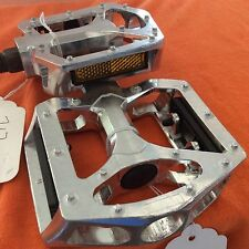 9/16'' Aluminium Pedals MTB/ Road/ Hybrid/ BMX Silver Flat Cage Platform CK-717