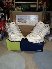 Nike Shox NZ White Leather Mens Trainers UK 10 2003 Vintage Boxed