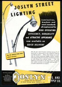 1949 Joslyn streetlight street light photo vintage trade ad 1