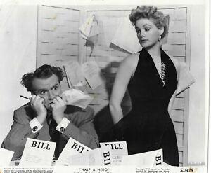 Red Skelton and Jean Hagen   Half a Hero vintage promo 8x10 photo