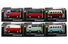Cararama Volkswagen Samba, Samba, T1 Pickup and Transporter 1/72 Set of 6 cars