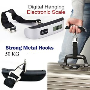 New 50kg travel digital portable handheld luggage weighing scales suitcase*Ascle