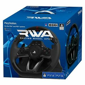 PS4 Racing Wheel Hori RWA APEX Officially Licensed Steering Playstation 4 3 PS3