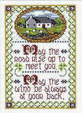 Cross Stitch Kit ~ Design Works Irish Blessing May the Road Rise Up... #DW9766