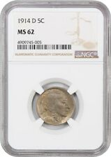 1914-D 5c NGC MS62 - Buffalo Nickel