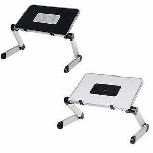 Adjustable Foldable Portable Bed Laptop Desk Table Stand with Cooling Fan Hole