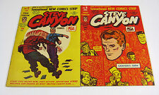 Steve Canyon Comics #2 FN/VF & #3 VF Milton Caniff,Golden Age HARVEY PUB 1948 NR