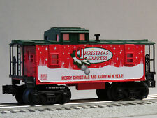LIONEL ILLUMINATED CHRISTMAS EXPRESS CABOOSE O GAUGE train holiday car 6-82982 C