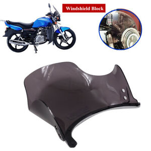 "Retro Round 5"" 7""Headlight Motorcycle Plastic Front Windshield Protective Cover"