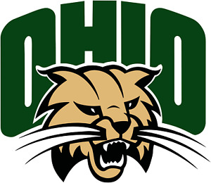 Ohio University corn hole set of 2 decals ,Free shipping, Made in USA #