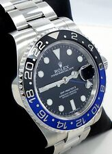 Rolex GMT-MASTER II 116710 BLNR BATMAN Black/Blue Ceramic Bezel Watch *MINT*