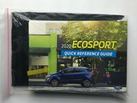 NEW FORD ECOSPORT 2020 20 OWNER'S MANUAL QUICK REFERENCE GUIDE