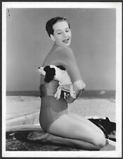Taina Elg Original 1950s Stamped MGM Portrait Photo Beach