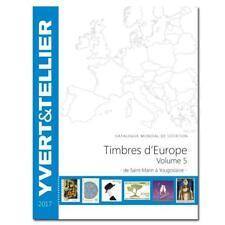 Yvert catalogus Europa volume 5 S-Z catalogue Europe Katalog catalogo 2017