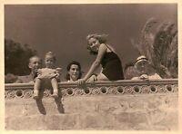 FOTO ANNI 20 - FAMIGLIA IN VACANZA AD ALASSIO - SETT 1939