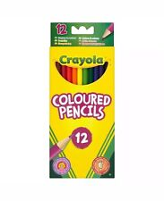Crayola 12 Coloured Pencils Strong Leads Pencil Crayons Art Supplies Stationery