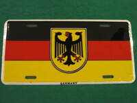 GERMANY EAGLE FLAG METAL LICENSE PLATE GERMAN SIGN L031