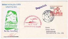Sobre circulado con sello de Alemania Occ. con viñeta y marca de Avión