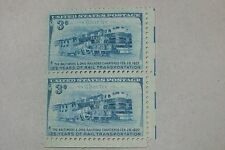 $0.03 Cents The Baltimore & Ohio Railroad Chartered Stamp Plate Block of 2