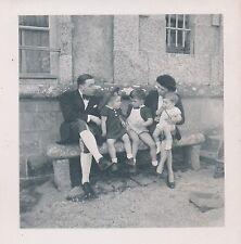 Photo Ancienne Enfants Famille - aa652
