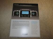 McIntosh MC2KW Amplifier Brochure, Specs, Info, 2 pgs