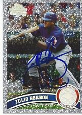 Texas Rangers JULIO BORBON Signed 2011 Sparkle Topps Card