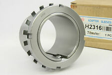 Bearing Adapter Sleeve, Metric H-2316 With Locking Nut 70mm New in Box