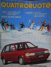 Quattroruote 338 1983 Alfa33 giardinetta.Fiat UnoGT.Austin Maestro 1300cc
