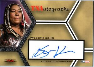 TNA Awesome Kong 2008 Tristar Impact Silver Authentic Autograph Card WWE Kharma