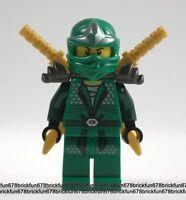 Lego New Ninjago Green Ninja Lloyd ZX Minifigure 9450 Epic Dragon w/Ninja swords
