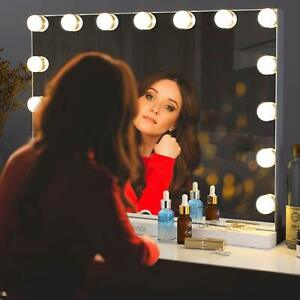 Hollywood Kosmetikspiegel Schminkspiegel mit 15 LED dimmbare Beleuchtung 58x43cm