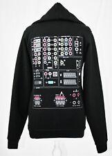 Men's/Boy's/Women's AV Graphic Black Long Sleeve Fleece Hoodie - Size S/M